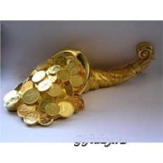Статуэтка Рог изобилия c деньгами