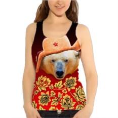 Женская майка Белый медведь в шапке