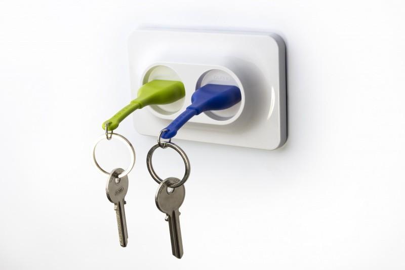 Набор из 2-х брелков для ключей с держателем Unplug