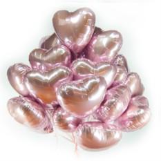 Фольгированные шары Розовые сердечки