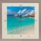 Настенные часы из песка Море