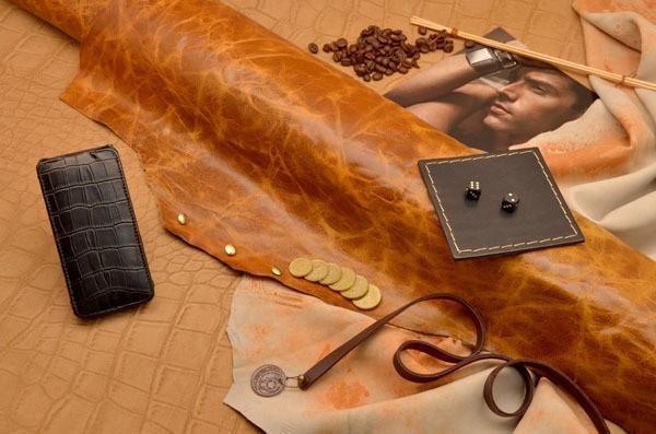 Кожаный чехол для iPhone 5 / 5S «Буря страстей»