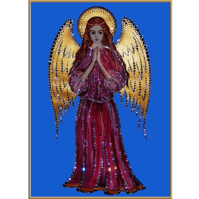 Хрустальная картина «Ангел-Хранитель»