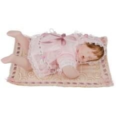 Фарфоровая кукла Младенец с мягконабивным туловищем