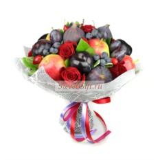 Букет из фруктов и цветов Бархатный сезон