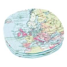 Набор из 4-х тарелок Карта мира