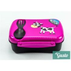 Детский фиолетовый ланч-бокс N'ice Box Cow