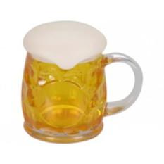 Пивная кружка с крышкой в виде пены