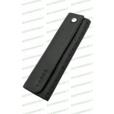 Черный полужесткий кожаный чехол для одной ручки Cross