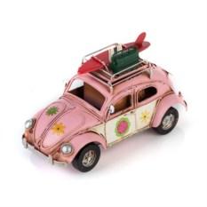 Ретро-модель Розовый автомобиль с фоторамкой и подставкой