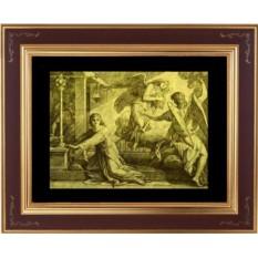 Гравюра из золота Господь говорит с Самуилом