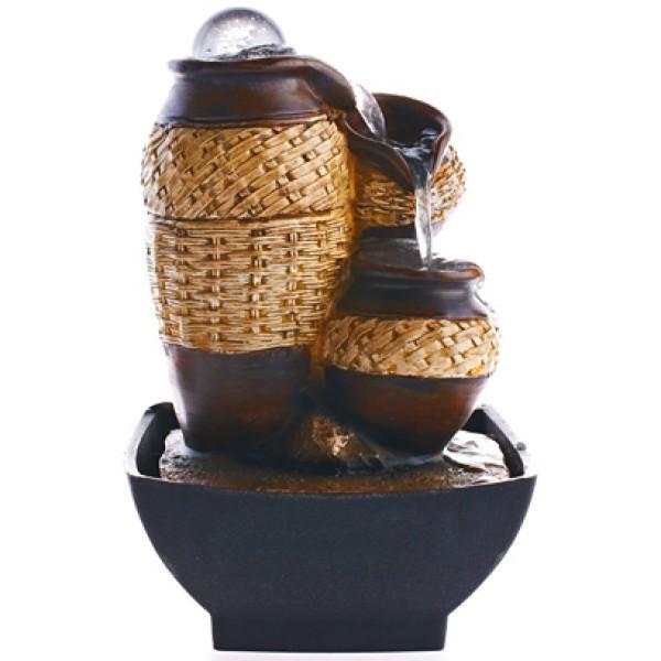 Настольный декоративный фонтан Кантри с подсветкой