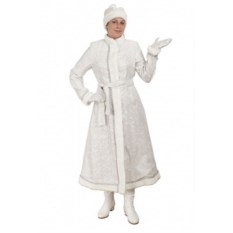 Длинный приталенный костюм Снегурочки (цвет: белый)