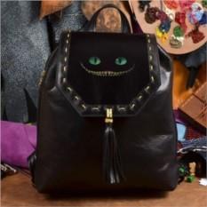 Женский кожаный рюкзак ручной работы Чеширский кот