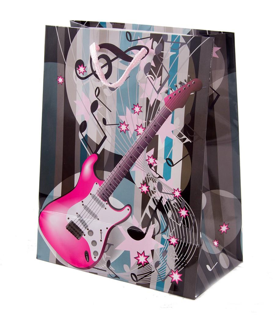 Бумажный покет с гитарой