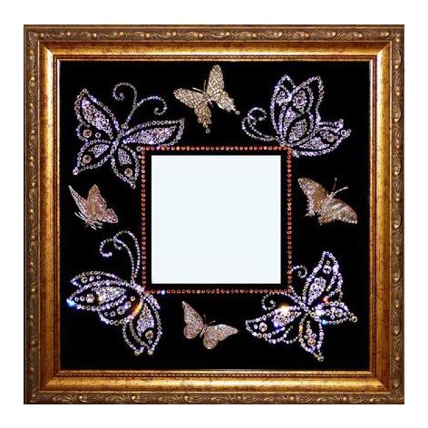Зеркало с мотыльками