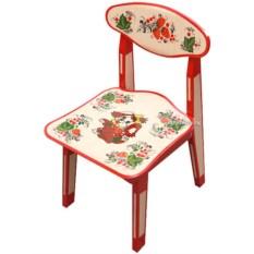 Детский стульчик с художественной росписью Хохлома