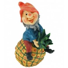 Садовая фигура Гном на ананасе
