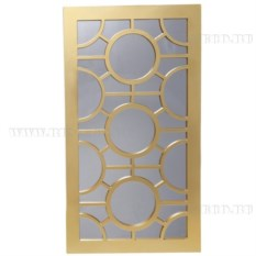 Прямоугольное зеркало (цвет — золотой)