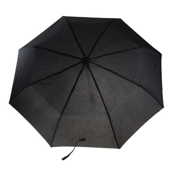 Складной механический зонт (цвет: черный)