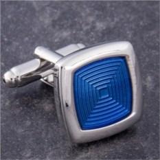 Запонки Синий квадрат