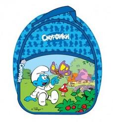 Голубой рюкзак «Смурфики»