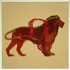 Картина с кристаллами Swarovski Лев-стихия года