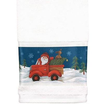 Полотенце банное Truckin With Santa