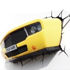 3D-Светильник Желтая машина