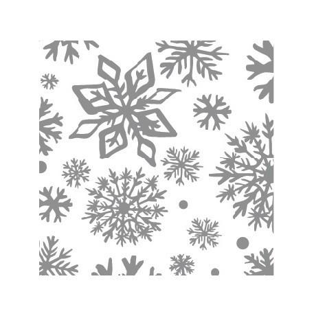 Мини-открытка С Новым годом!, снежинки