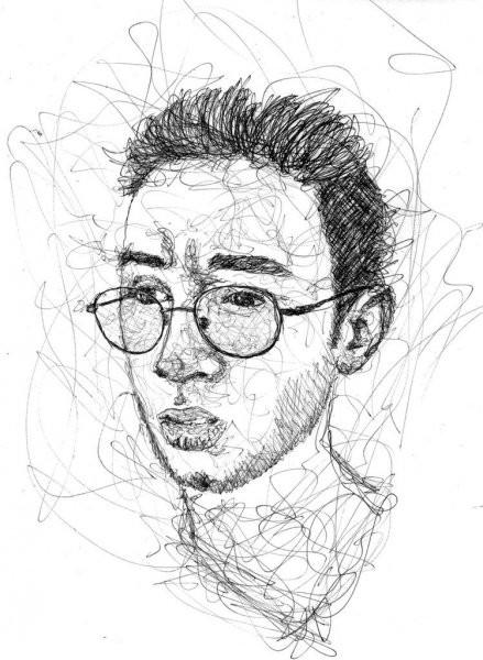Мужской портрет ручкой
