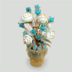 Цветы из бирюзы Бирюзовая свадьба