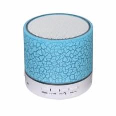 Синяя Bluetooth колонка с цветомузыкой