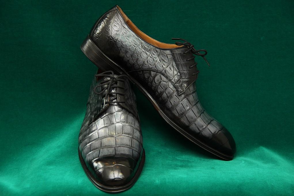 Сертификат на пошив туфель из кожи крокодила