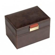 Темно-коричневая античная шкатулка для драгоценностей