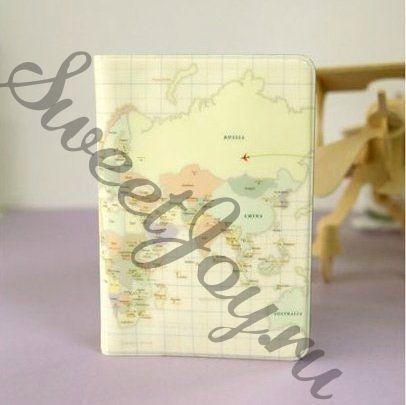 Обложка для паспорта World Map Cream