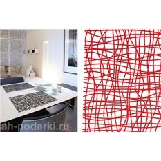 Красный настольный коврик Декор