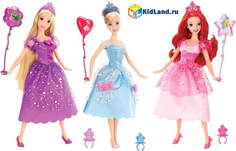 Кукла Disney Princess Золушка, Ариель, Рапунцель