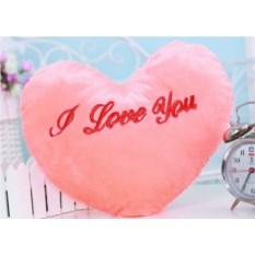 Светящаяся подушка Сердце розового цвета