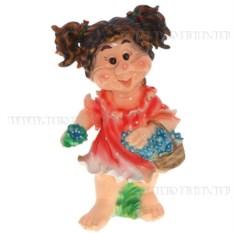 Декоративная садовая фигура Девочка с хвостиками