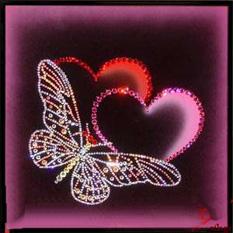 Картина с кристаллами Swarovski «Прикосновение любви»