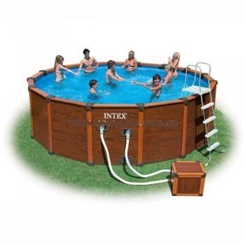 Каркасный бассейн Intex (полный комплект + песочный фильтр)