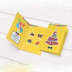 Желтая открытка с шоколадом С Днем Рождения