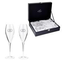 Набор бокалов для шампанского Свадебные (Swarovski)