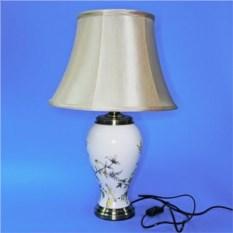 Лампа с абажуром (белая с желтыми птицами)