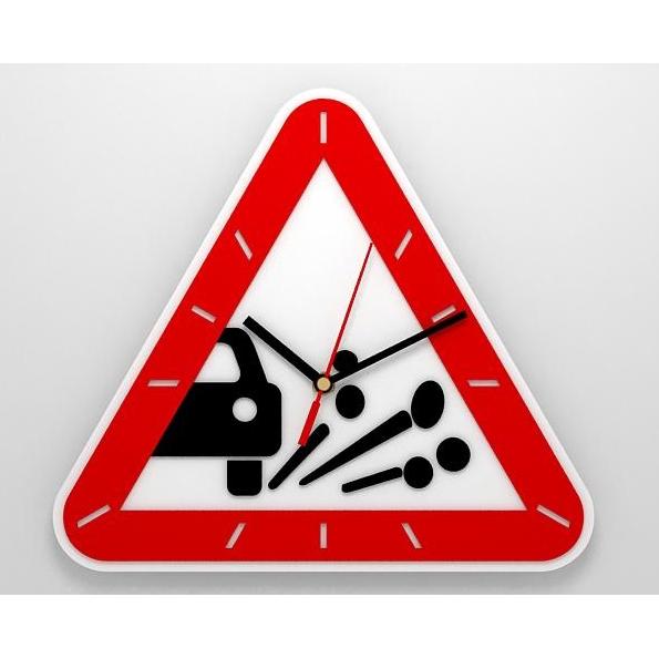 Часы со знаком «Выброс гравия»