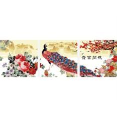 Картины по номерам «Пионы и павлин»