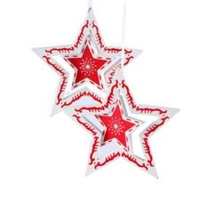 Набор из 6 декоративных украшений Звезда