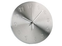 Настенные часы, серебристые