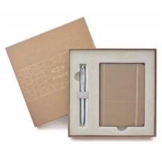 Подарочный набор Parker: перьевая ручка и записная книжка